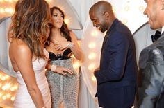 Nicole Scherzinger, Kim Kardashian, Kanye West and Lewis Hamilton attend the GQ Men Of The Year awards