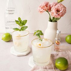 Recette : Sodastream Canada Orange Wheels, Ginger Slice, Fresh Mint Leaves, Beverages, Drinks, Fresh Water, Glass Of Milk, Ale, Balloons