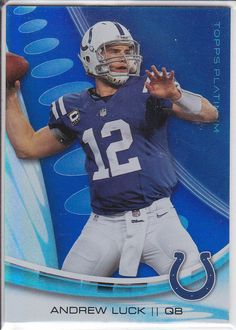 2013 Topps Platinum Thick Card Blue Saphire #95 ANDREW LUCK- Indianapolis Colts  #colts