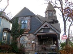 Keyhole House, built in 1892, in the Heritage Hill Historic District of Grand Rapids, MI