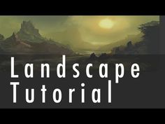Landscape Painting Tutorial - YouTube, really great tutorial for beginner landscape painting