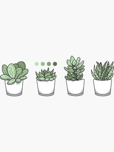 """""""Tiny Potted Succulents and Gradient"""" Sticker by BountifulBean Succulents Wallpaper, Succulents Drawing, Art Sketches, Art Drawings, Drawings Of Plants, Plant Aesthetic, Plant Drawing, Plant Art, Aesthetic Stickers"""