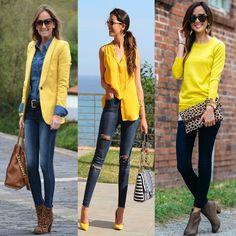 Cómo combinar el amarillo? #moda #looks #stylo