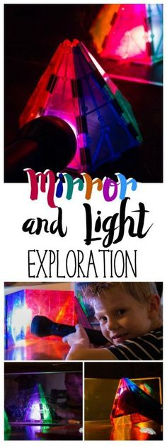 Mirror and Light Science Exploration for preschoolers is a fun activity/lesson idea. Want to teach your kids about colors, reflection, absorption and more? This science experiment is simple! They will love playing with light and learning this. Science Experiments For Preschoolers, Cool Science Experiments, Stem Science, Preschool Science, Kids Learning Activities, Teaching Science, Science For Kids, Science Activities, Science Projects