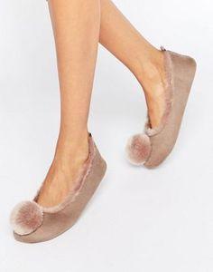 Carvela - Pantofole chiuse con pompon