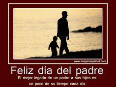 Imagen con frase Feliz día del Padre con movimiento Un tiempo para ti al final del dia