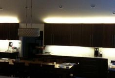 Above and Under Cabinet LED Lighting in Cool White 6500K Kitchen