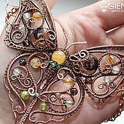 "Handmade Jewelry.  Fair Masters - handmade Necklace - Butterfly ""Argema mittrei"".  Handmade."