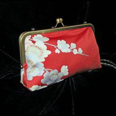 Kimono de seda tela bolsa/embrague/Bag...Regalo de por Paulownias, $105.00