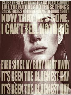 Lana Del Rey #LDR #The_Blackest_Day