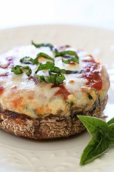 Veggie Lasagna Stuffed Portobello Mushrooms