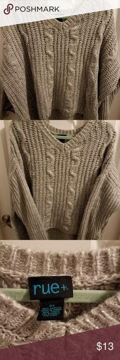 **FINAL MARKDOWN** Rue 21 sweater V neck soft warm gray sweater Rue21 Sweaters V-Necks
