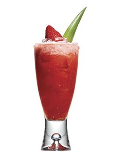 Strawberry Punch  - 3 fresh strawberries  - 3 slices canned pineapple  - 1/2 oz. pineapple syrup from the can  - 1/4 oz. simple syrup (dissolve one part sugar in one part boiling water; let cool)  - 2 oz. white rum    Muddle fruit. Pour over ice with other ingredients; shake. Garnish with fruit.