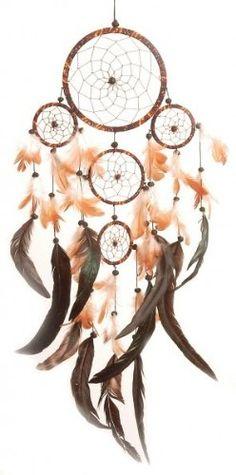 Dreamcatcher batik - Traumfänger Ø 14 cm und vier kleine