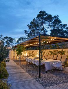 Ibiza, Can Caterina by Urban Village Interior Architecture & Design is part of Outdoor patio furniture sets Location Santa Gertrudis, Ibiza, Spain Built by Urban Village Interior Architecture - Pergola With Roof, Outdoor Pergola, Diy Pergola, Outdoor Spaces, Outdoor Living, Outdoor Decor, Pergola Kits, Modern Pergola, Small Pergola
