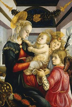 Sandro Botticelli Madonna and Child with Angels  #TuscanyAgriturismoGiratola