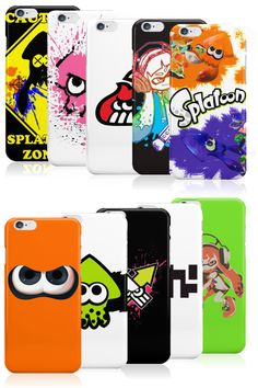 Protect your iPhone with a splash of color with these flashy Splatoon cases. The wide variety of magnificent Squid and Inkling designs will leave a tough decision to make on what Splatoon-flair you will choose. #splatoon #inkling