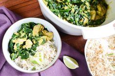 Curry de poulet, épinards et coco en 30 minutes Recette+sur+Chocolate+%26+Zucchini