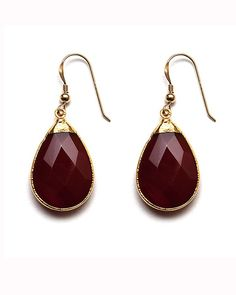 The Carnelian Azin Earrings by JewelMint.com, $60.00