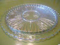Mid Century Prressed Glass Relish Tray on Etsy, $22.50