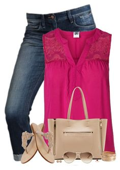 """""""Nude Sandals & Bag"""" by stay-at-home-mom ❤ liked on Polyvore"""