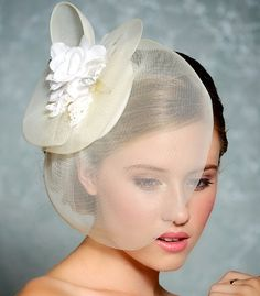 Bridal Hair Fascinator Bridal Hat Wedding Hair by GildedShadows,(I would wear it).