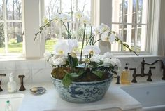 Orchids are an easy luxury for dressing up the bathroom