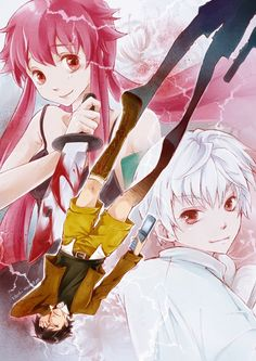 Yuno Gasai and Aru Akise