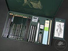 Pitt Monochrome grafit Faber-Castell set/ 26 buc - Creioane pentru grafică - Arthobbycreativ