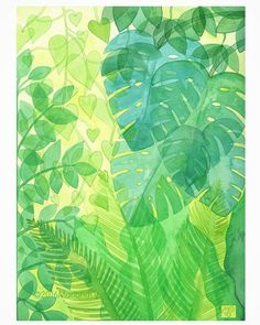 ©2016MarianaOppel- @marianaoppel One more #tropical #illustration. #rainforest #leaves #translucent ##illustrations #tropicallife #marianaoppel #illustrator #bosque #selva #bosquetropical #jungle #superposiciones #foret #forettropicale