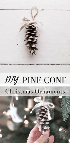 How to Make Simple Pine Cone Christmas Ornaments DIY Christmas Decorations Video Tutorial