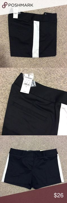 💎New Item💎 Black Tuxedo Shorts Black tuxedo dress shorts by Express. NWT. Express Shorts