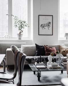 Bright living room with an industrial touch - via Coco Lapine Design blog | #connox #beunique
