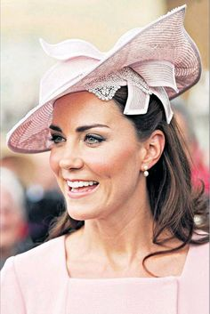 The Duchess in pink: At a garden party, Buckingham Palace - 30 May 2012