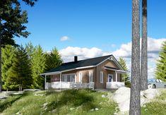 Suloinen vaaleanruskea pientalo. 😊  #latte #cottage #omakotitalo #lappli #lapplitalot #inspiration #finnish Latte, Cottage, Cottages, Cabin, Cabins