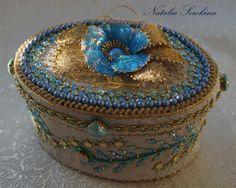 Создаем шкатулочку с вышитой примулой, весенними цветами и кристаллами Swarovski - Ярмарка Мастеров - ручная работа, handmade