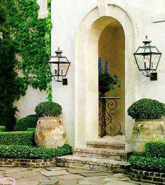 Simple garden entryway