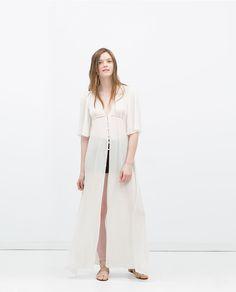 Image 1 of LONG TUNIC DRESS from Zara