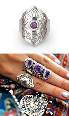 Authentic artisanal silver rings with .925 sterling silver and genuine stones - artefactscollection.com
