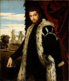 """ca. 1560 - """"Portrait of a Man"""" by Paolo Veronese [1560~1569].   Museum of Fine Arts - Budapest (Hungary)."""