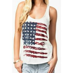 bedaf532a96 Dovia Women  Patriotic American Flag Print Lace Camisole Tank Top T-Shirt  US Flag 06. DaisyDuxie · Tops