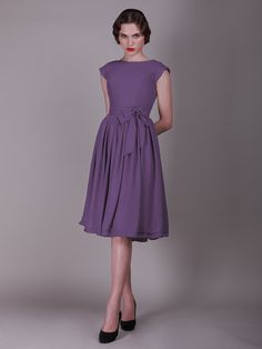 For Her and For Him vintage style bridesmaid dress - Purple Wedding #Bridesmaid #Purple #Wedding