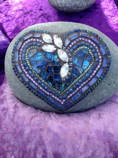"Mosaic ""Rock of Love"" by Moonjewelsandmosaics on Etsy https://www.etsy.com/listing/557628419/mosaic-rock-of-love"