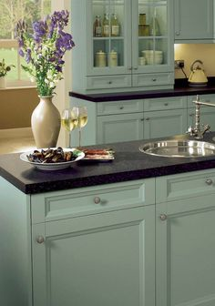 Kitchen Cabinets Colors painting kitchen cabinets white color with black border painting
