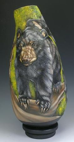 Gourd art by Denise Meyers