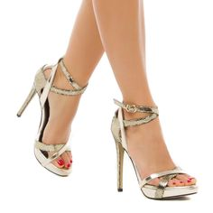 ShoeDazzle.com | Shenice by ShoeDazzle in gold $49.95
