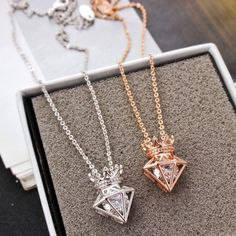 767bd712f8 Cool! New Rose Gold Short Chain Zircon Crown Diamond Pendant Necklace just   15.99 from ByGoods