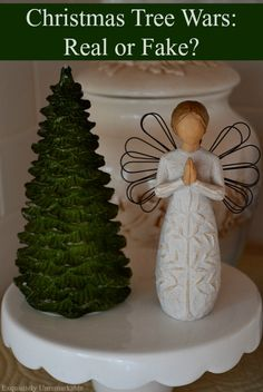 Real versus fake Christmas trees...which do you prefer? Here's my take?