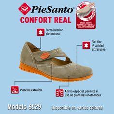 ¿Buscas un zapato moderno en el que poder insertar tu plantilla anatómica? El Mod. 6529 tiene todo lo que necesitas, posibilidad de adaptar tu plantilla, piso antideslizante y ligero, altura de tacón de 2 cm., materiales muy suaves. Un zapato ancho especial, con diseño actual y moderno que realmente te hará disfrutar de tus paseos. #confort #comodidad #calidad #madeinspain