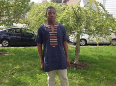 African Fabric Men shirt Men linen shirt by AFRICANFABRICSPOT